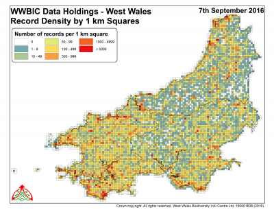 West Wales record density September 2016